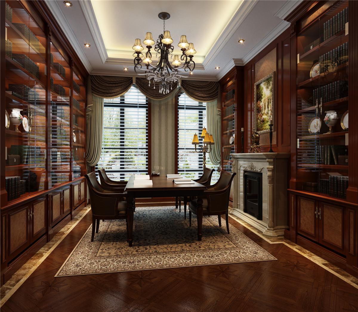 绿城香樟园1000平别墅项目装修美式风格设计,上海腾龙图片