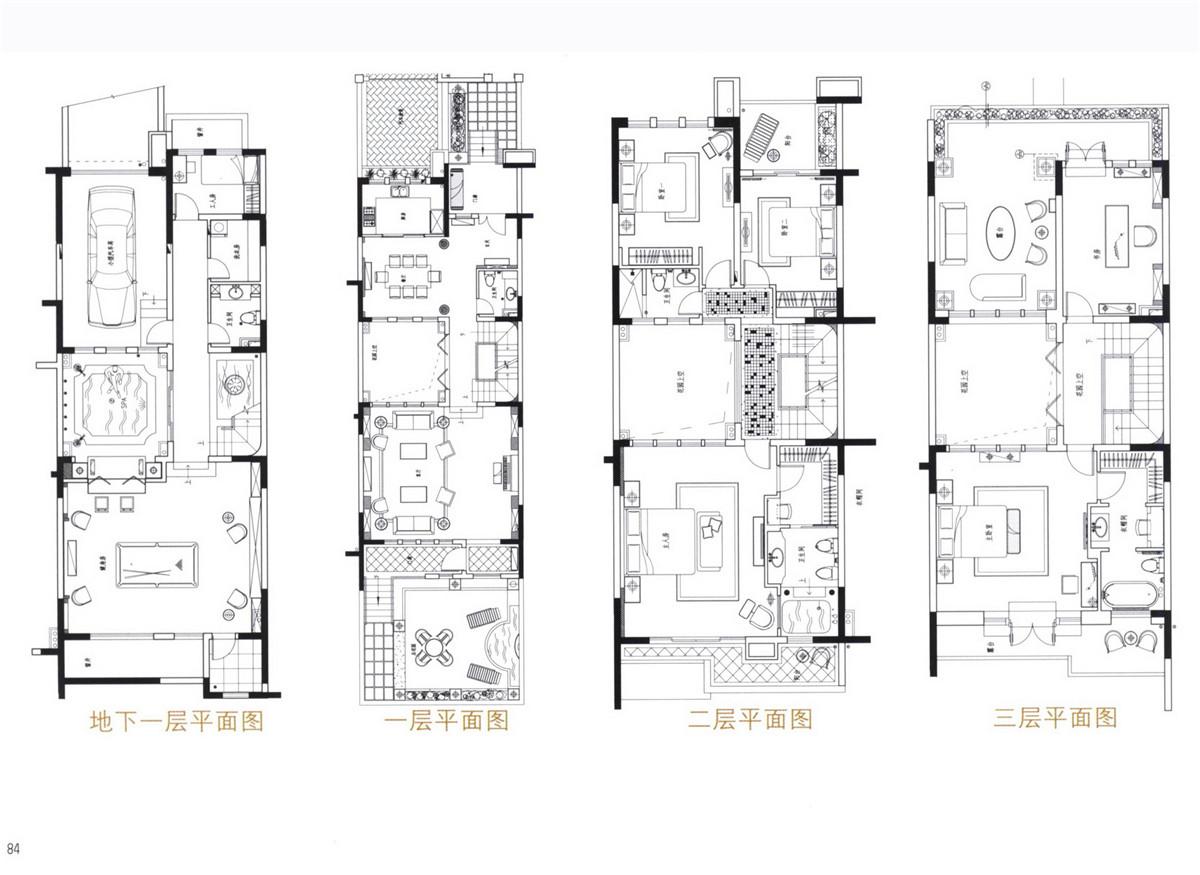 长岛别墅 别墅装修 现代风格 腾龙设计 刁振瑛作品 户型图图片来自孔继民在长岛别墅项目装修现代风格设计的分享
