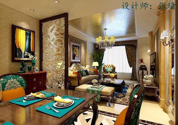三居 华润幸福里 欧式风格 餐厅图片来自百家设计小刘在华润幸福里120平欧式风格的分享