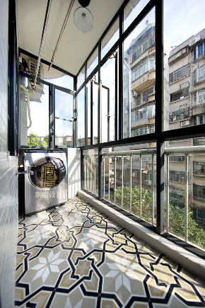 三居 旧房改造 北欧 胭脂设计 家装设计 室内设计 阳台图片来自设计师胭脂在华工旧房改造2—素简生活的分享