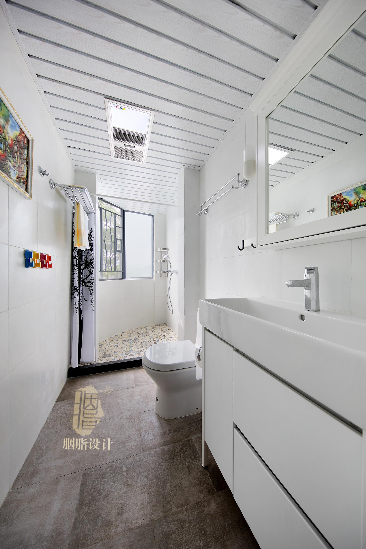 三居 旧房改造 北欧 胭脂设计 家装设计 室内设计 卫生间图片来自设计师胭脂在华工旧房改造2—素简生活的分享