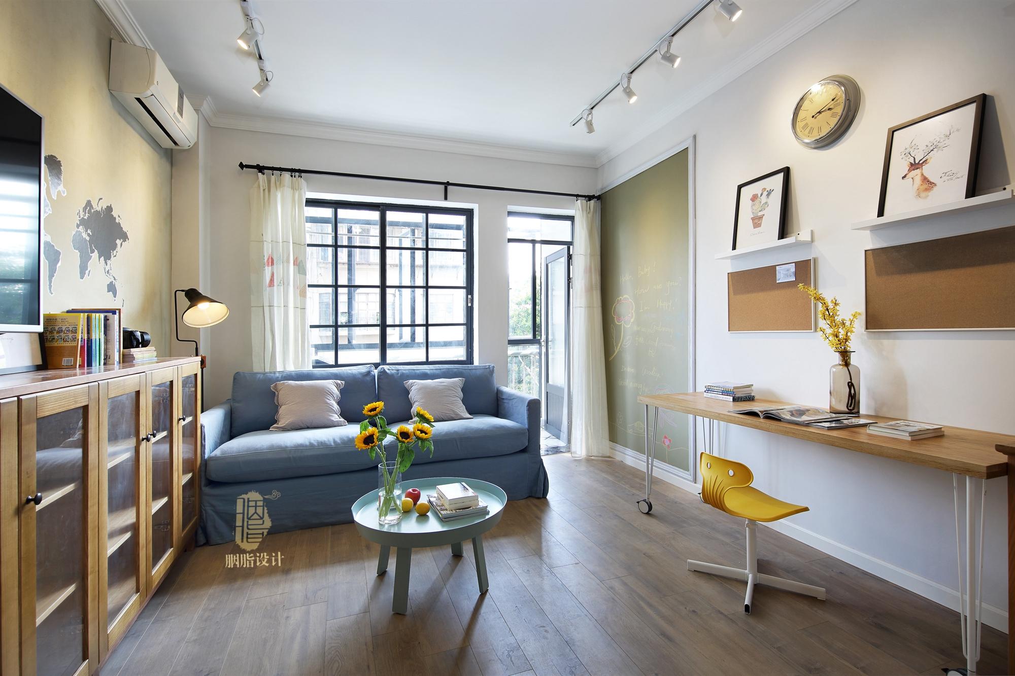三居 旧房改造 北欧 胭脂设计 家装设计 室内设计 客厅图片来自设计师胭脂在华工旧房改造2—素简生活的分享