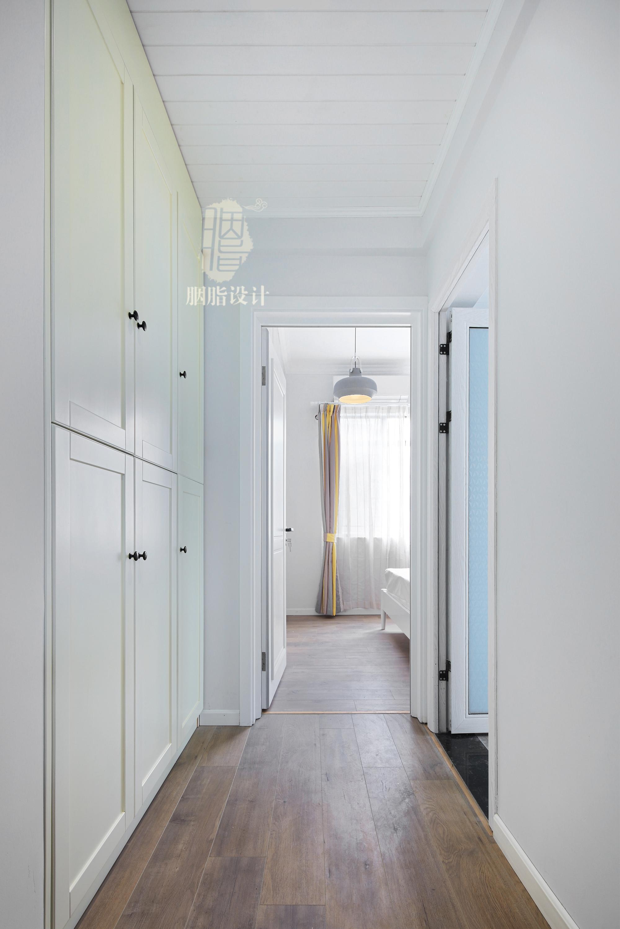 三居 旧房改造 北欧 胭脂设计 家装设计 室内设计 卧室图片来自设计师胭脂在华工旧房改造2—素简生活的分享