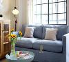 浅蓝色沙发,小清新北欧风轻轻吹