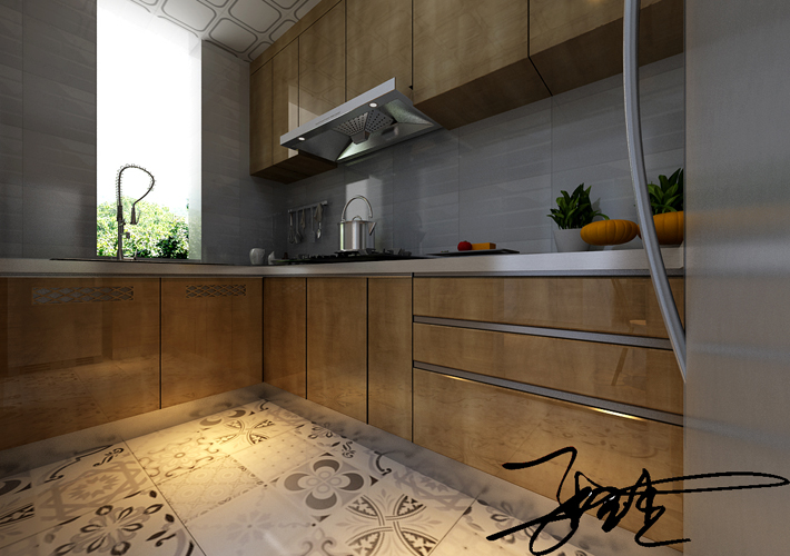 二居 浦江苑 北欧风格 厨房图片来自百家设计小刘在浦江苑御景湾82平北欧风格的分享