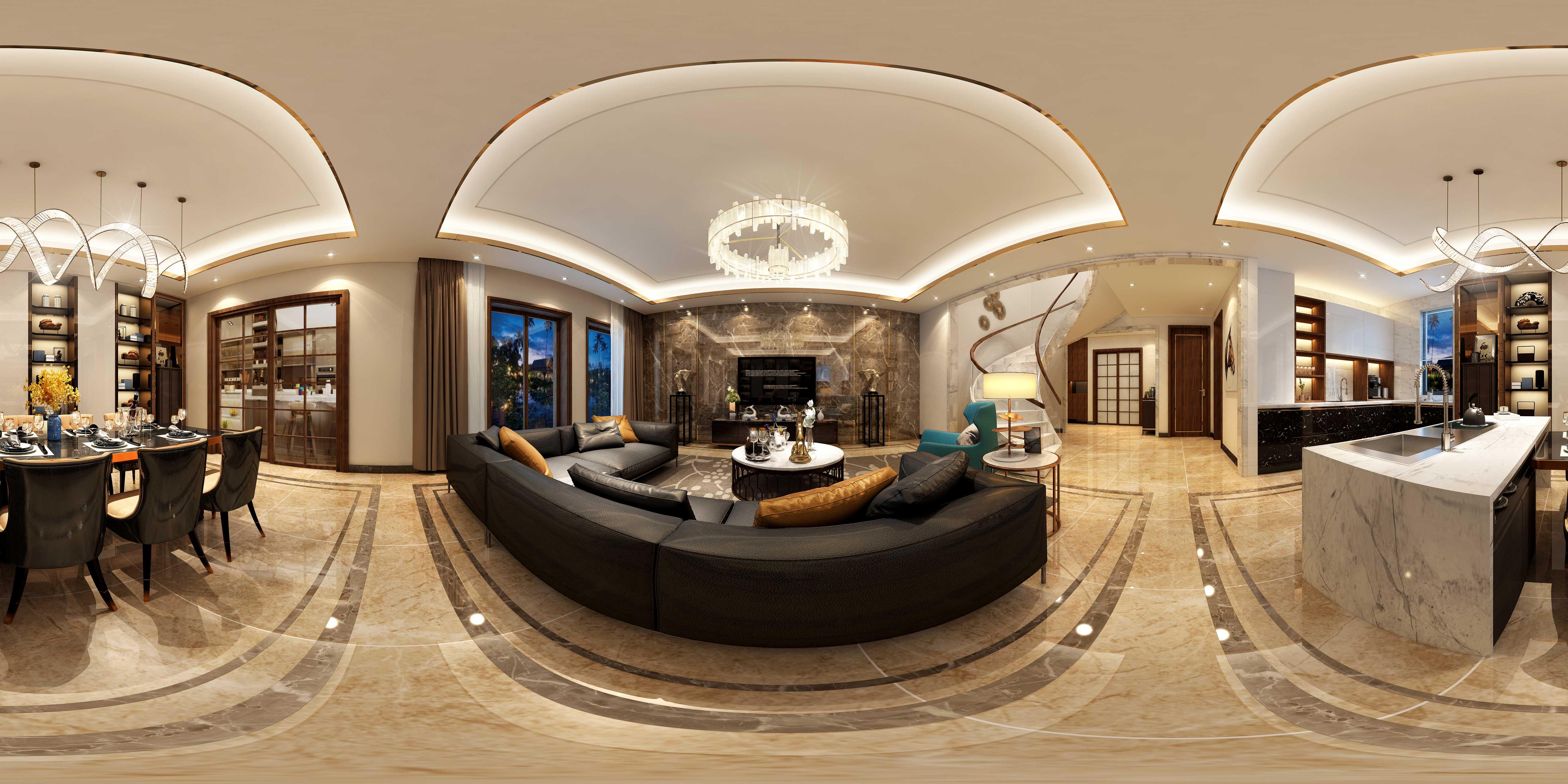 现代 别墅 收纳 朱平波 客厅图片来自朱平波在长滩壹号——诗意的分享