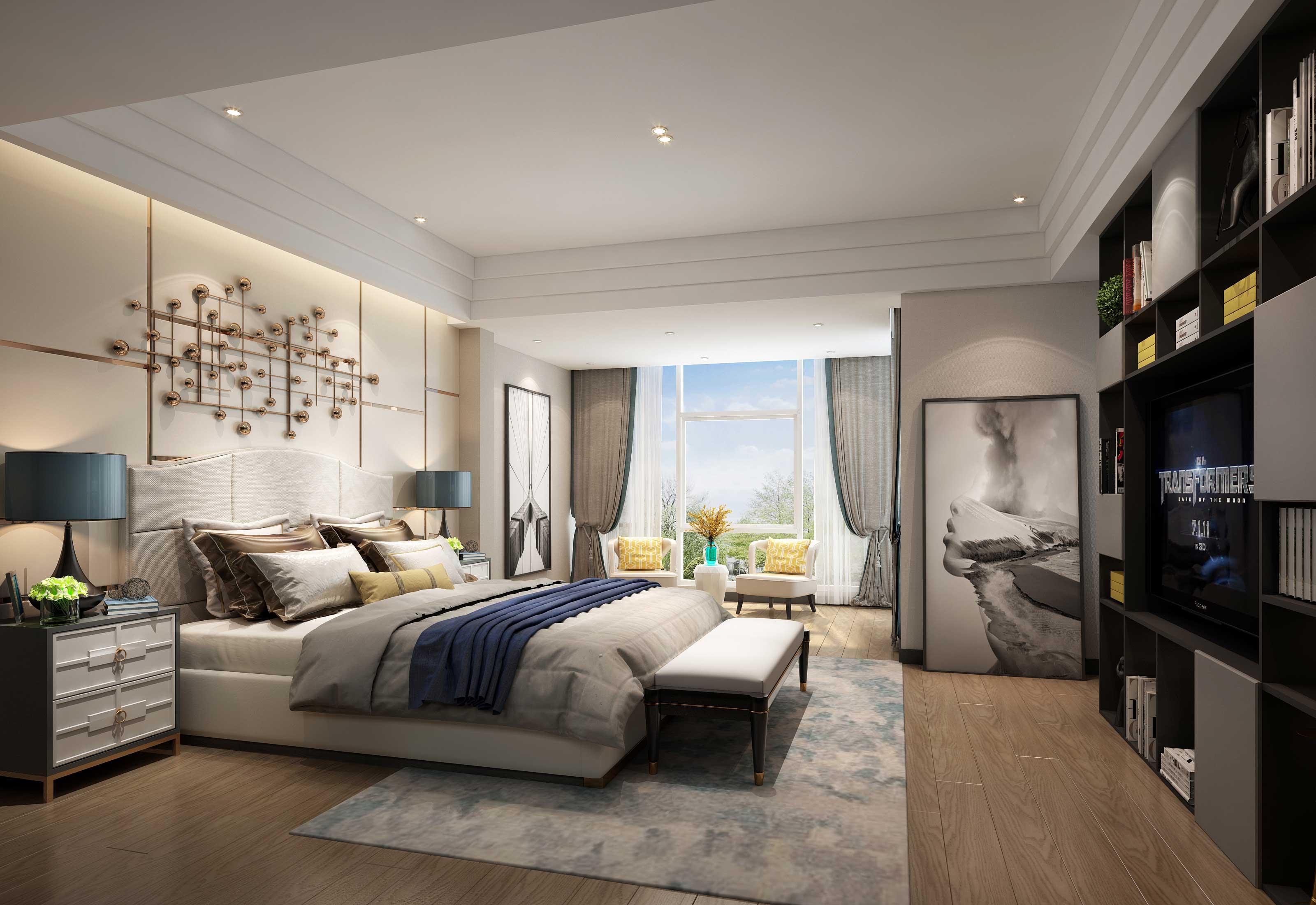 现代 别墅 收纳 朱平波 卧室图片来自朱平波在长滩壹号——诗意的分享