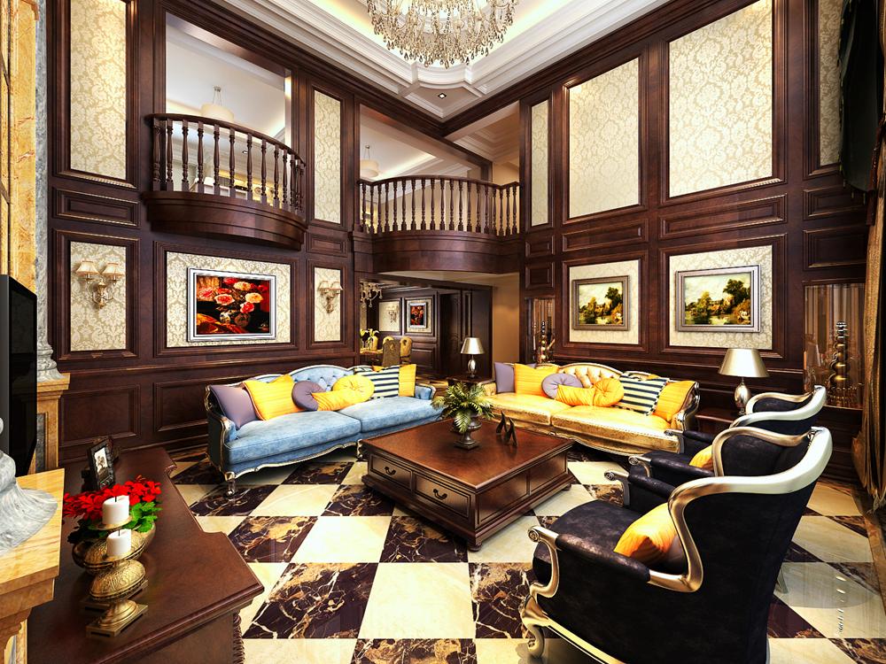保利叶上海别墅项目装修欧美古典风格设计,上海腾龙别墅设计作品,欢迎
