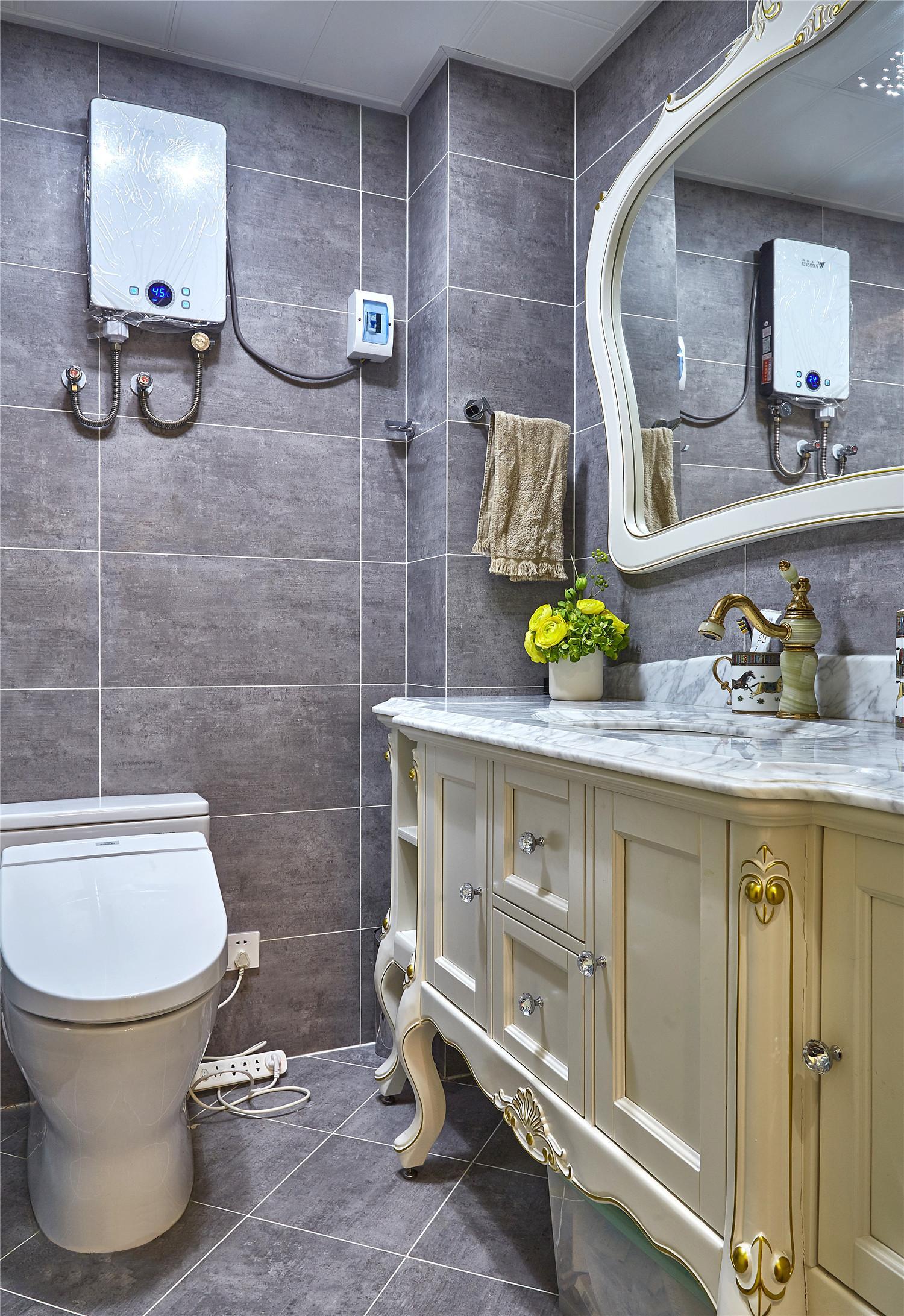 简约美式风格别墅卫生间金属来自别墅设计师杨洋在图片a风格美式小资白领岭南图片