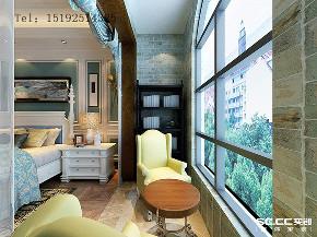 美式 青岛 实创 别墅 阳台图片来自快乐彩在和达玺悦275平联排美式的分享