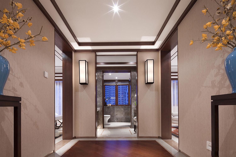 中式 别墅 跃层 复式 大户型 卫生间图片来自高度国际姚吉智在500平米新中式品味优雅本色的分享