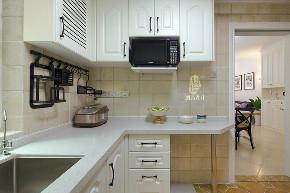 美式 二居 旧房改造 胭脂设计 厨房图片来自设计师胭脂在胭脂原创设计:▲狗尾巴草的爱的分享