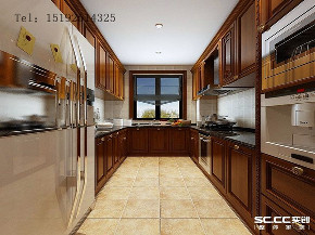 别墅 美式 实创 明德小镇 青岛 装修 白领 厨房图片来自实创装饰小彩在明德小镇192平美式联排别墅装修的分享