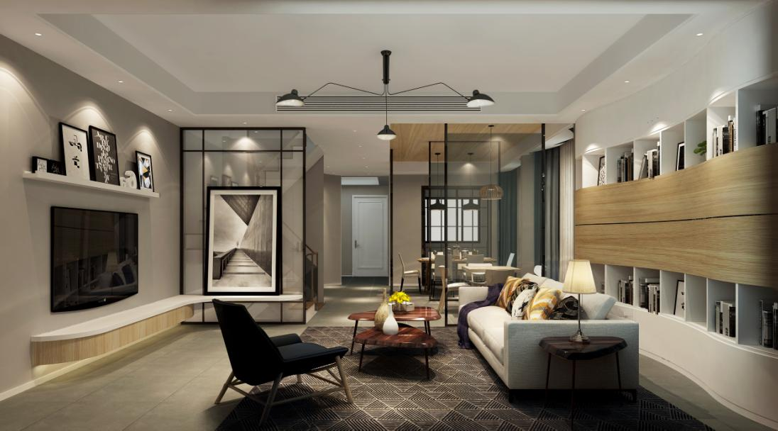 金地都会艺境别墅装修北欧风格设计,上海腾龙别墅设计