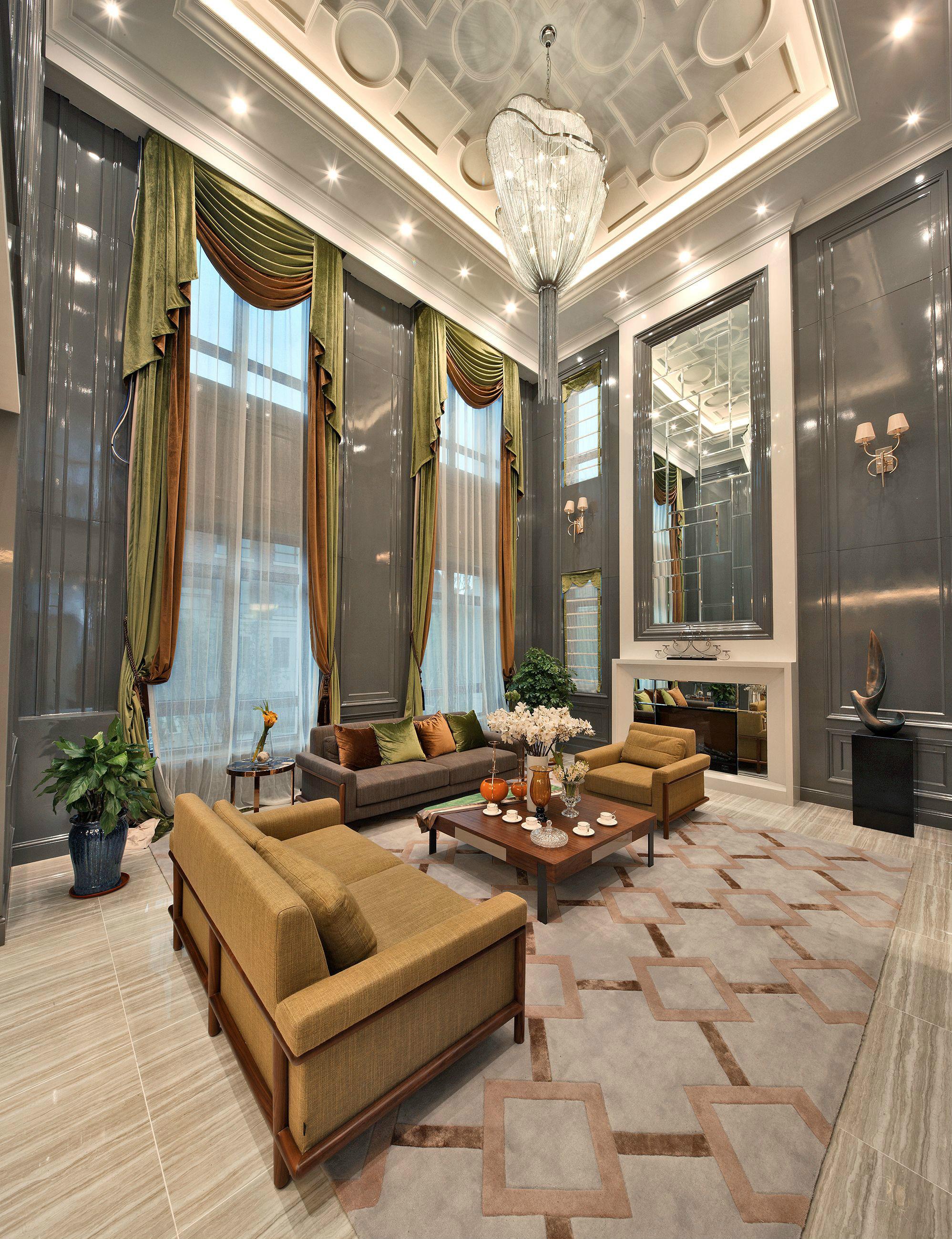 80后 小资 客厅图片来自高度国际姚吉智在317平米古典别墅走心的设计图片