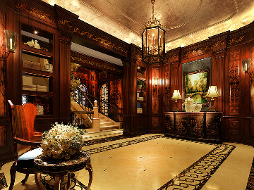 大豪山林760平别墅美式古典风格
