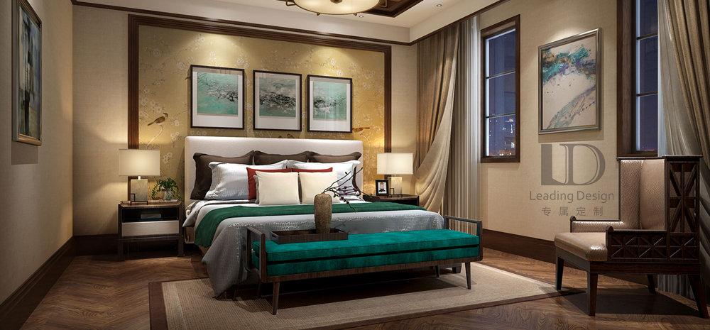 别墅 中式风格 清水溪 卧室图片来自兄弟装饰-蒋林明在海昌清水溪别墅装修的分享