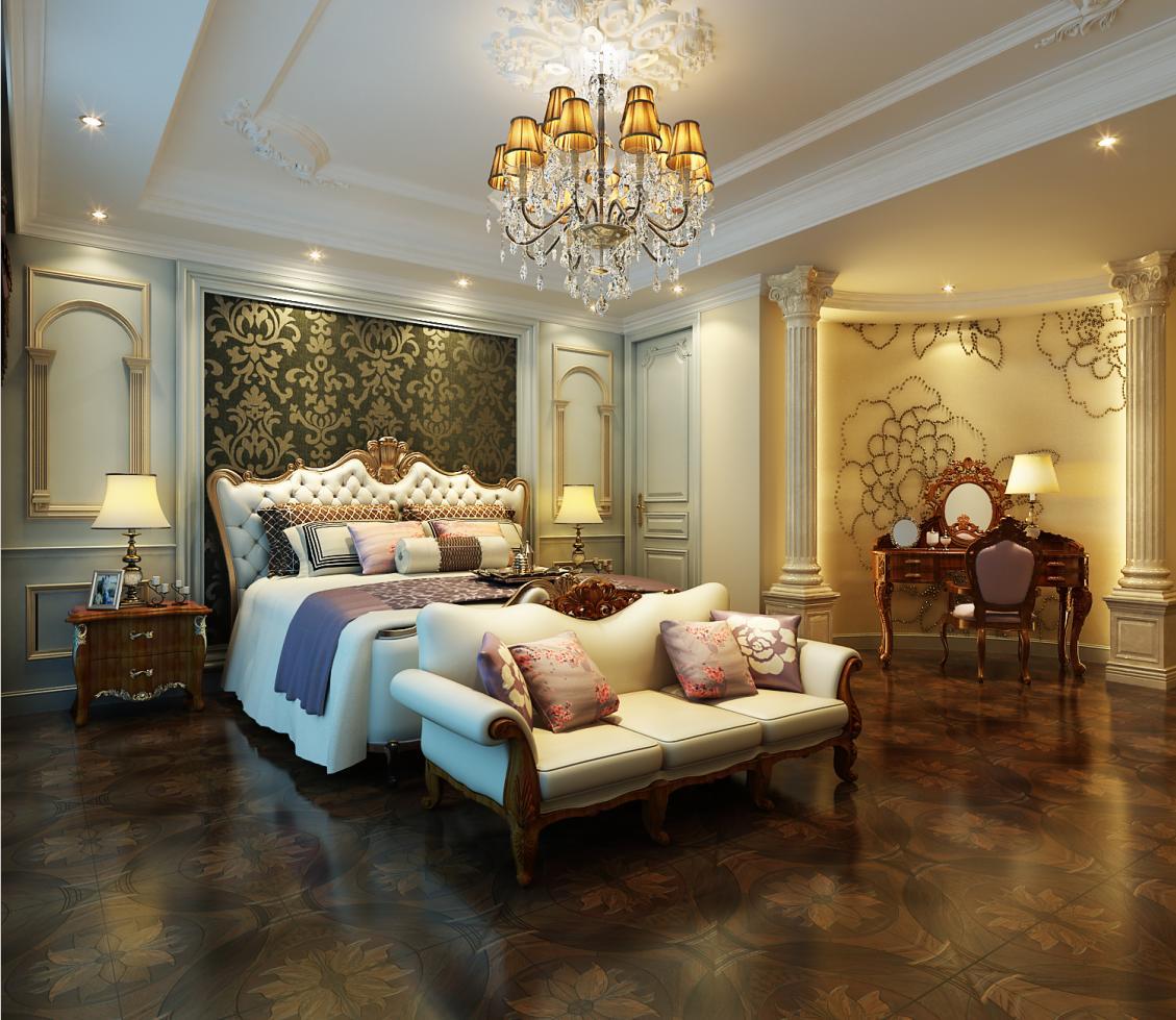 枫丹白露 别墅装修 美式古典 腾龙设计 卧室图片来自孔继民在枫丹白露别墅装修美式古典设计的分享