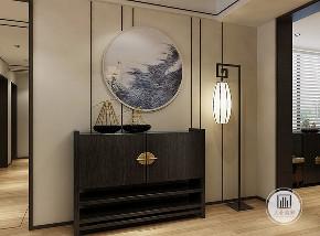 现代 中式 玄关图片来自大业美家 家居装饰在【中冶德贤】原汁原味的中式装修的分享