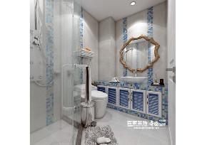 二居 地中海 和平之门 卫生间图片来自百家装饰LL在中海和平之门 79平地中海风格的分享