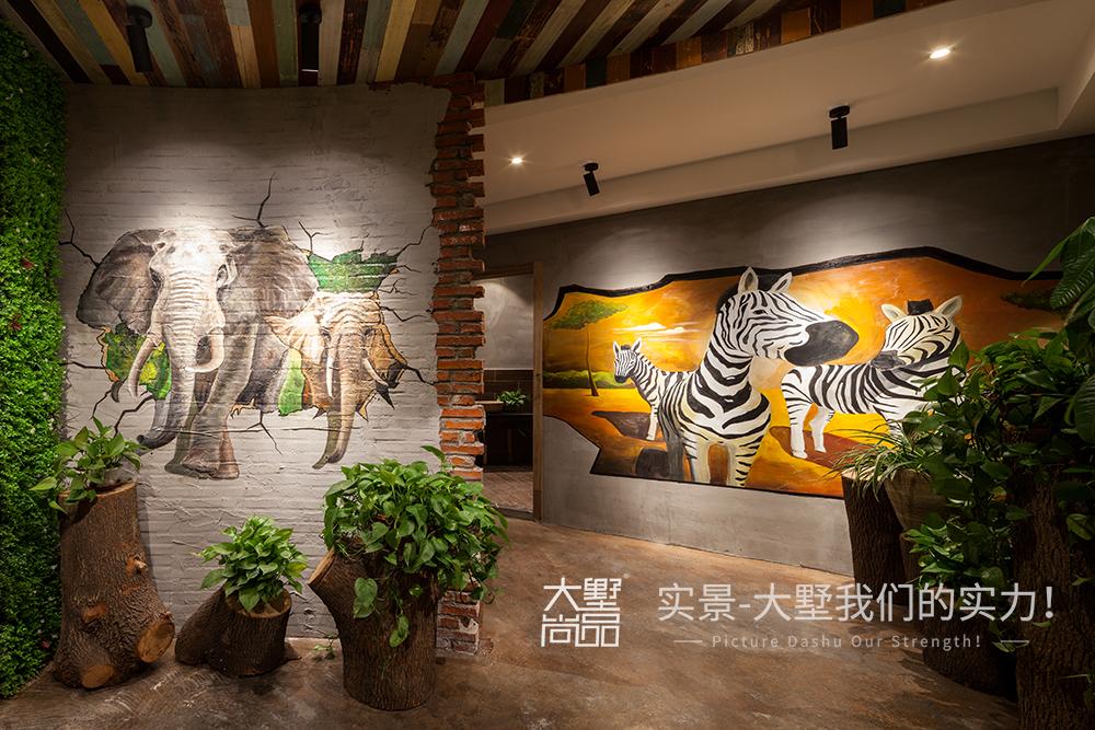 工业风 餐厅图片来自大墅尚品-由伟壮设计在主题咖啡厅·享自然森林之图片