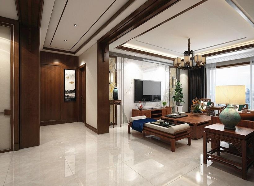 大业美家 新中式风格 家装设计图片来自大珺17631160439在帝王国际163平新中式风格效果图的分享