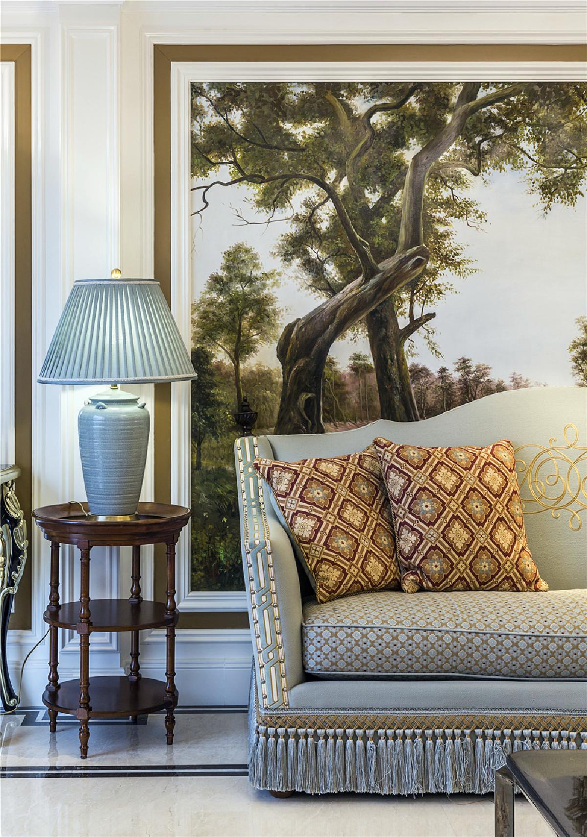 静安府邸大平层项目装修欧式古典风格设计,上海腾龙别墅设计作品,欢迎品鉴