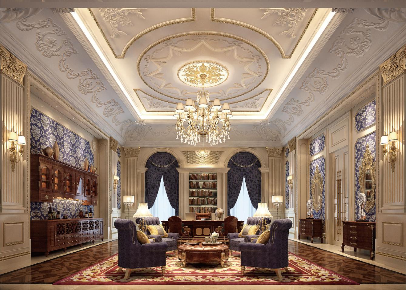 西郊大公馆 别墅装修 欧式古典 腾龙设计 书房图片来自孔继民在西郊大图片