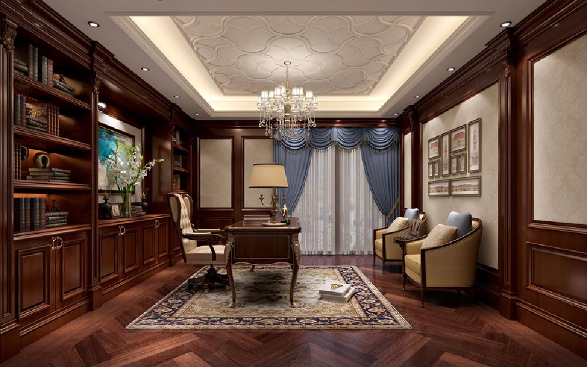 东郊罗兰750平别墅项目装修新古典风格设计,上海腾龙别墅设计作品,欢迎品鉴