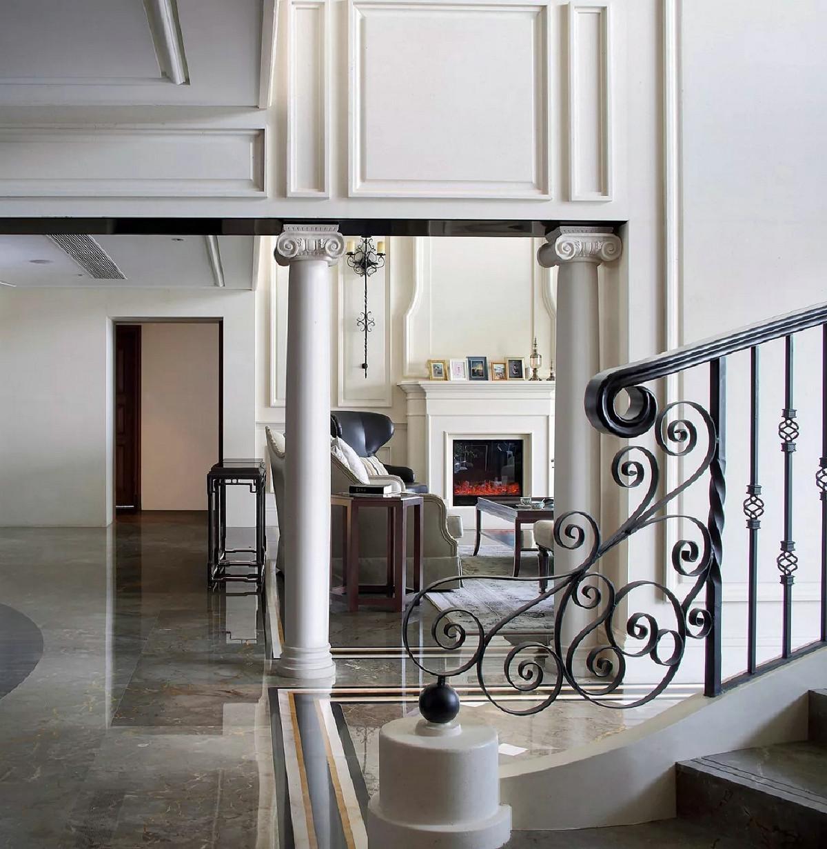世茂湖滨花园别墅项目装修欧美风格设计方案,上海腾龙别墅设计师叶剑平作品,欢迎品鉴