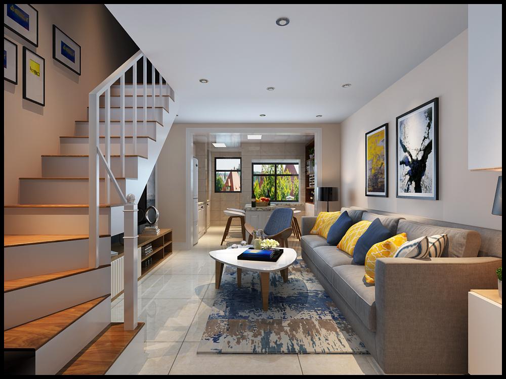 太原金色米兰80平米复式房装修案例 太原80平米装修报价 复式房装修