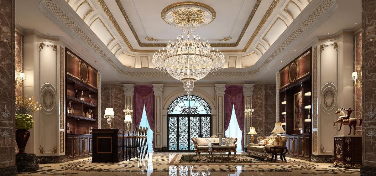西郊大公馆奢华别墅欧式古典风格设计,上海腾龙别墅设计师郭建作品,欢迎品鉴