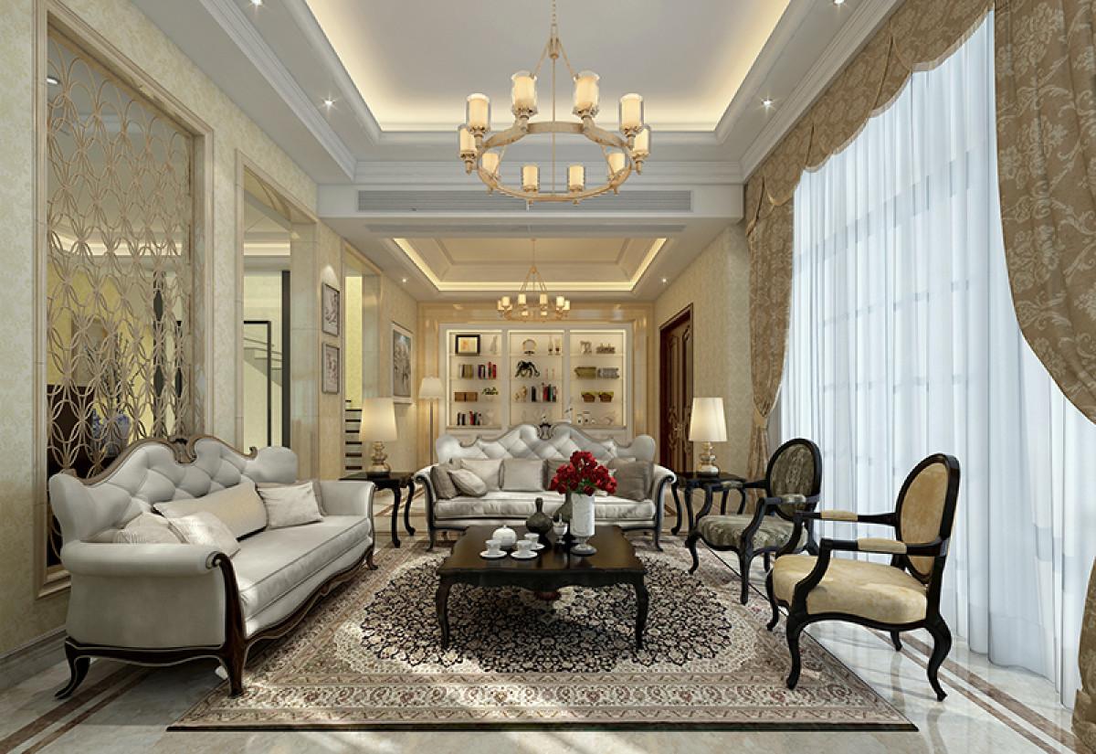 九龙仓国宾一号别墅项目装修现代风格设计,上海腾龙别墅设计作品,欢迎品鉴