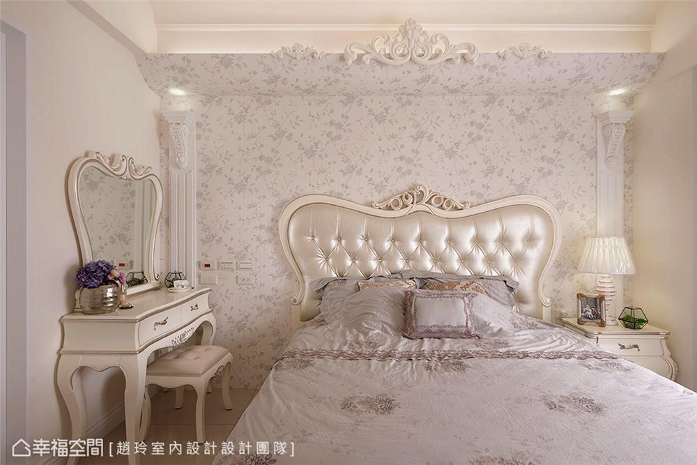 装修设计 三居 白领 旧房改造 收纳 80后 小资 卧室图片来自幸福空间在132平旧藏换新装邂逅现代新古典的分享