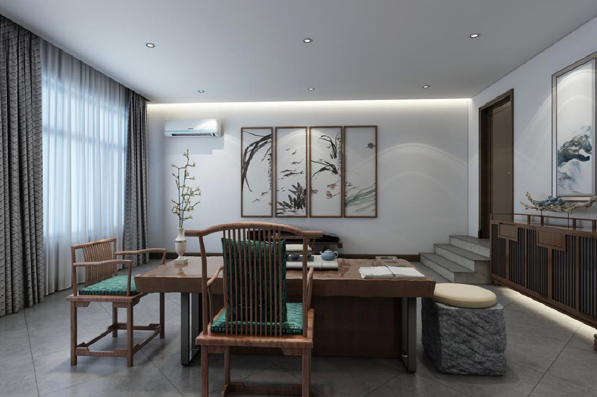 崇明岛金茂逸墅别墅项目装修简美风格设计,上海腾龙别墅设计师作品,欢迎品鉴