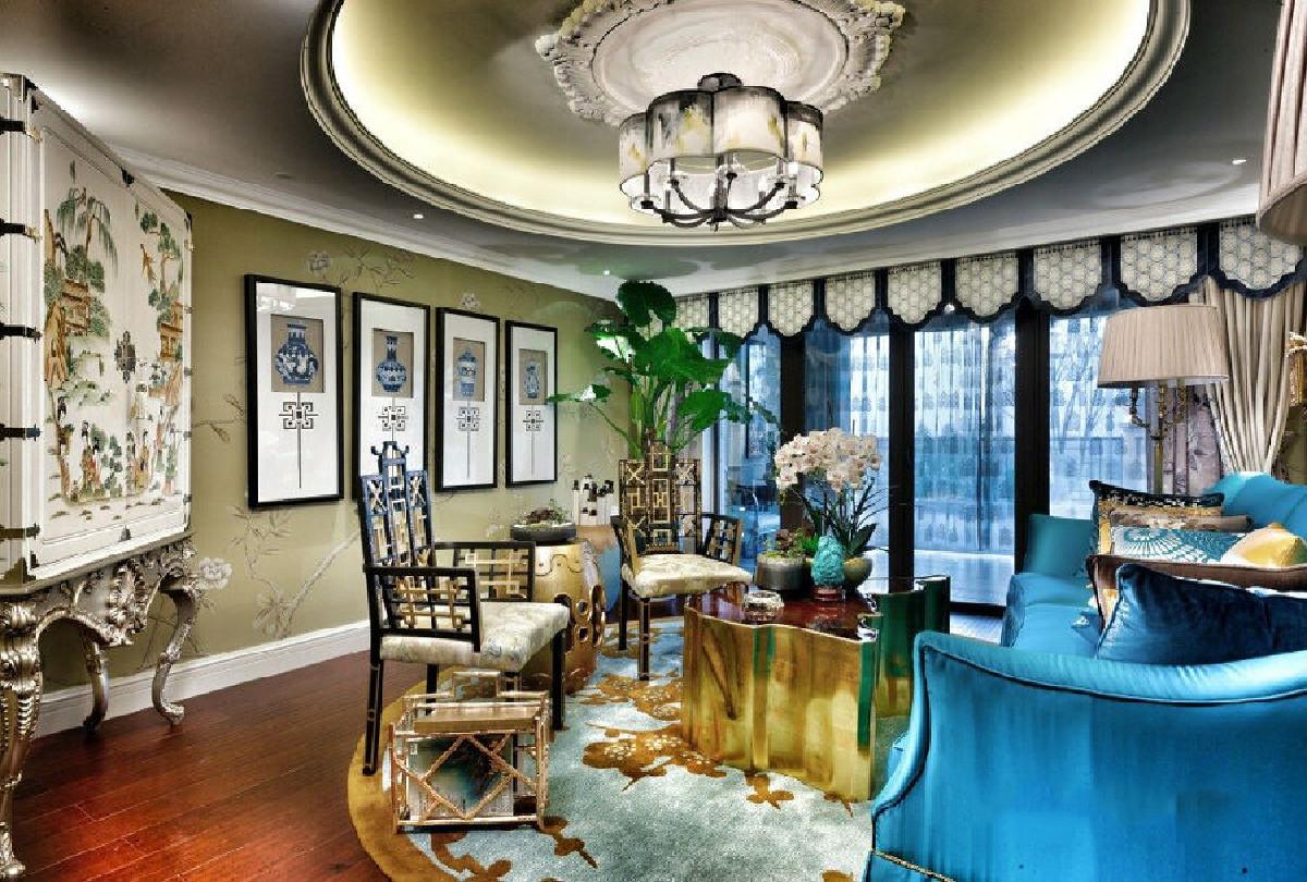 古北大公馆别墅项目装修欧式古典风格设计,上海腾龙别墅设计作品,欢迎品鉴