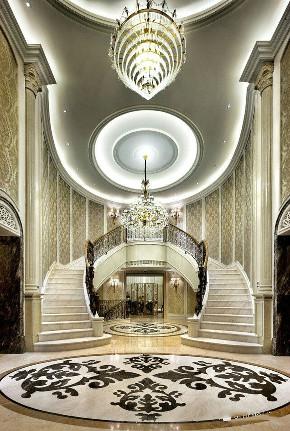 古北大公馆 别墅装修 后现代古典 腾龙设计 郭建作品 楼梯图片来自周峻在古北大公馆别墅项目欧式古典风格的分享