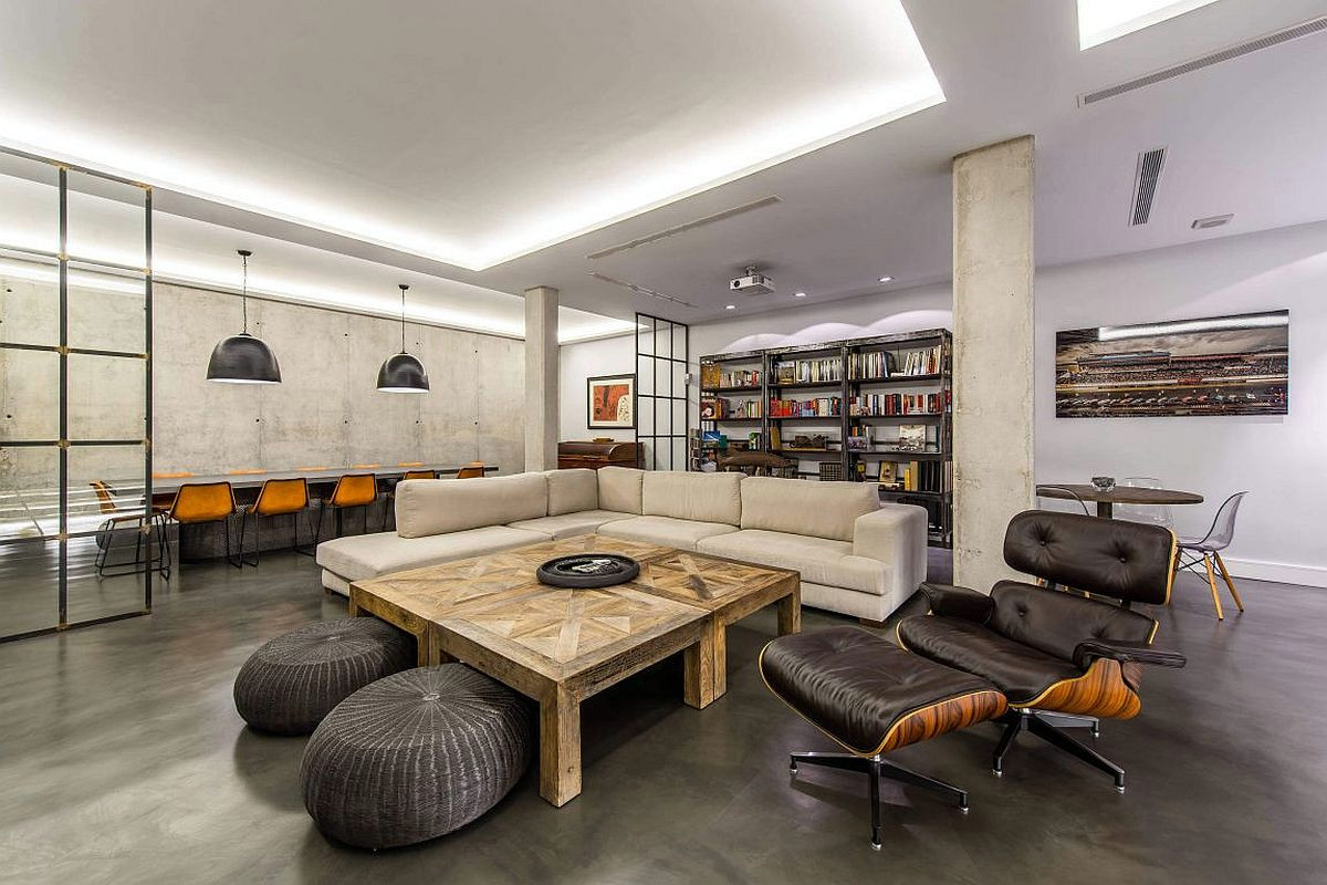 东海御庭别墅项目装修后现代工业风格设计,上海腾龙别墅设计师周峻作品,欢迎品鉴