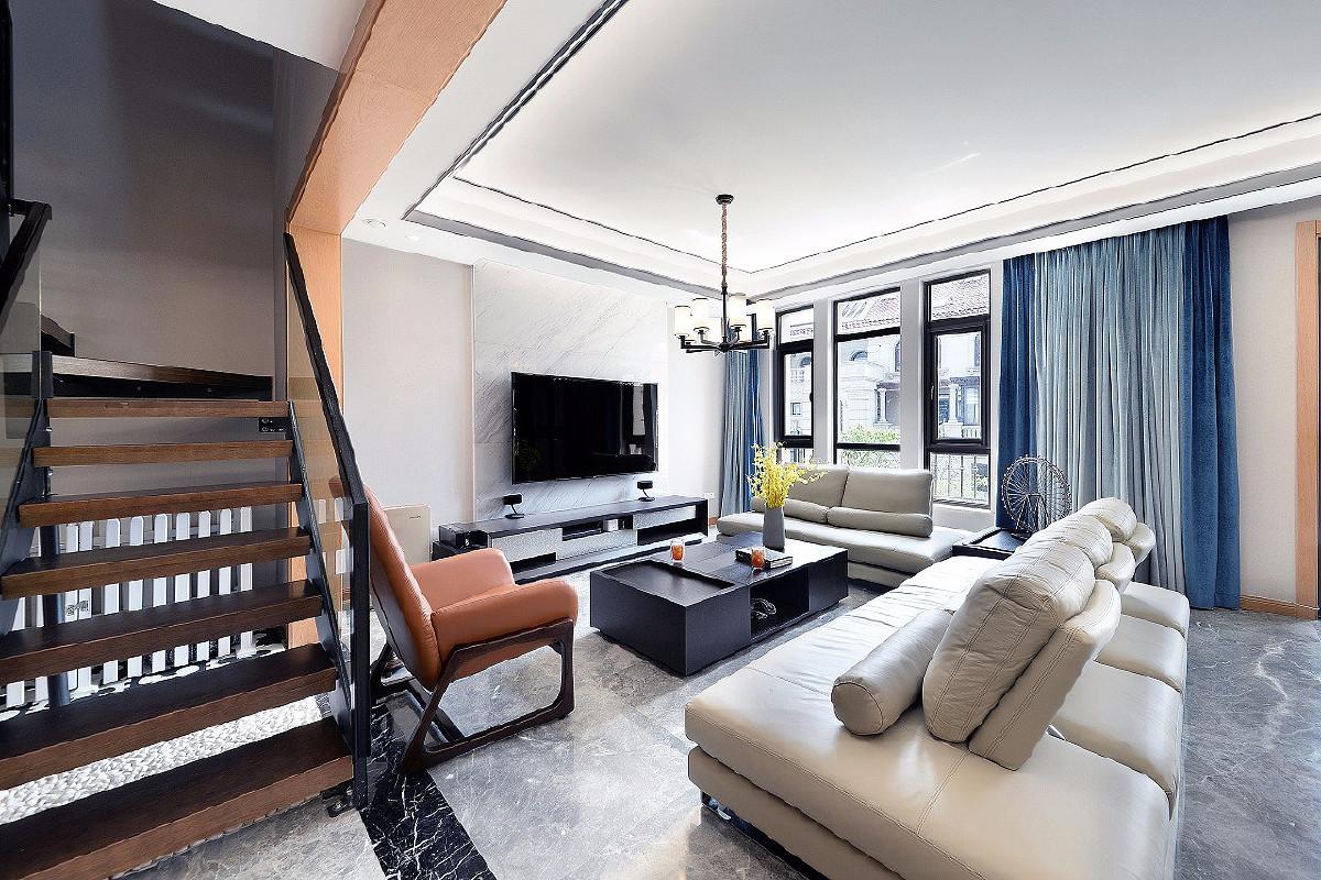 正荣国领别墅项目装修现代风格设计,上海腾龙别墅设计作品,欢迎品鉴