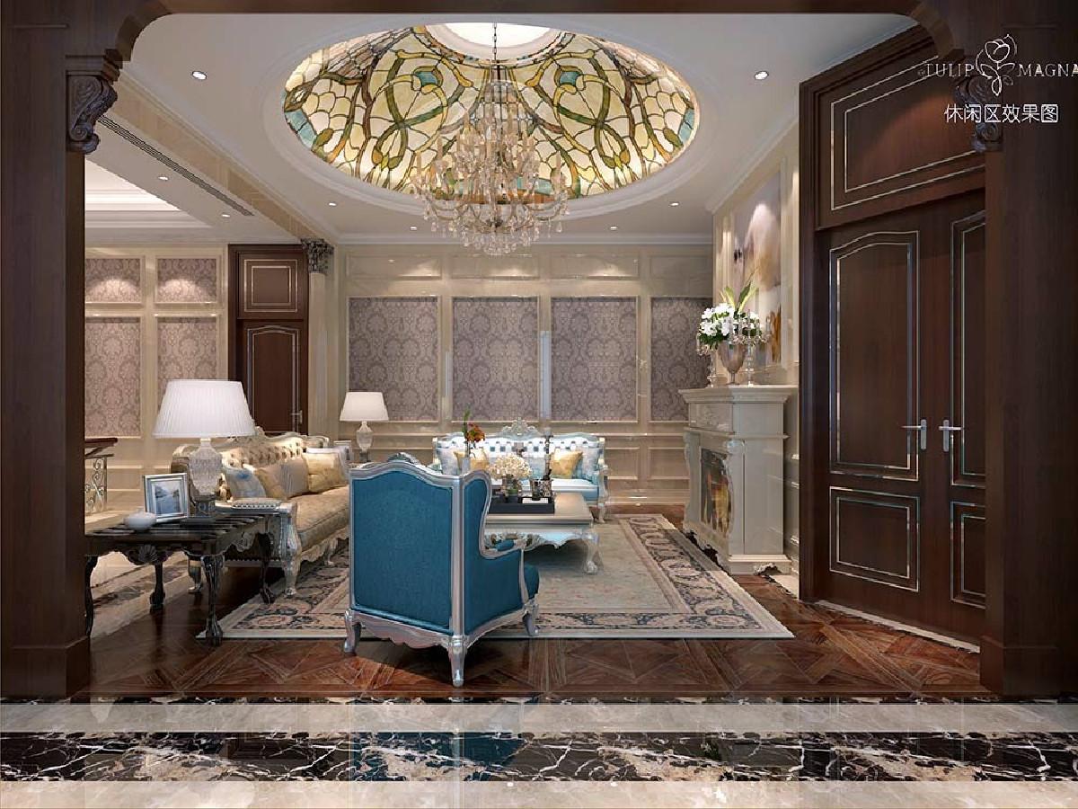 苏州桃花源别墅项目装修欧式古典风格设计,上海腾龙别墅设计作品,欢迎品鉴