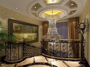公园养生豪 别墅装修 欧式古典 腾龙设计 楼梯图片来自腾龙设计在公园养生豪庭别墅新古典设计的分享
