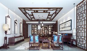 别墅 白领 收纳 80后 小资 中式 新中式 客厅图片来自圣奇凯尚室内设计工作室在中式韵味私人会所的分享