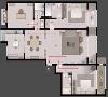 本案定位为私人会所,便于偶尔的接待聚会,客厅空间舍弃传统的电视,结合顶面的造型暗藏了投影幕,结合智能化的设计保留装饰性的同时,将其功能化便利性也得到最大化提升。