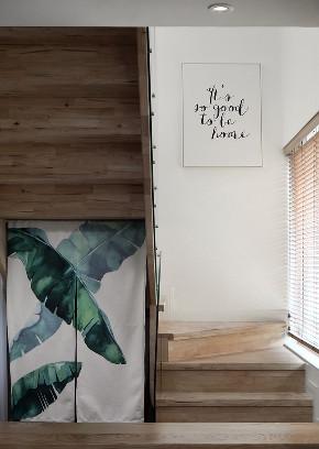 简约 四居 楼梯图片来自言白设计在跃层住宅的分享