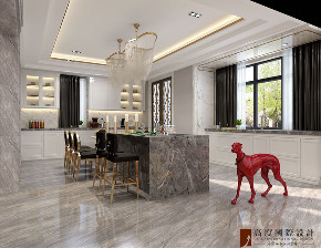 新古典 法式 别墅 跃层 复式 大户型 80后 小资 厨房图片来自高度国际姚吉智在天恒半山世家684㎡法式经典的分享