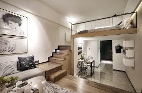 简约 空间利用 楼梯图片来自北京今朝装饰在小空间装出家的温暖的分享