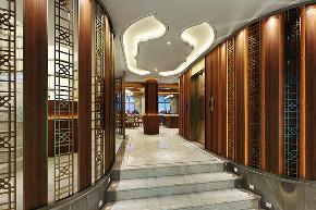 中式 别墅 跃层 复式 大户型 80后 小资 玄关图片来自高度国际姚吉智在460平米新中式东方韵味轻奢范的分享