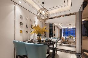 现代 美式 混搭 三居 大户型 复式 跃层 80后 小资 餐厅图片来自高度国际姚吉智在160平米现代美式混搭优雅情调的分享