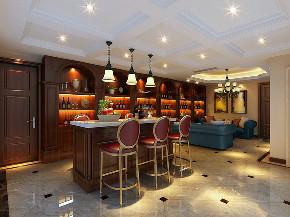 海德花园 别墅装修 欧美古典 腾龙设计 厨房图片来自腾龙设计在海德花园别墅项目装修美式风格的分享