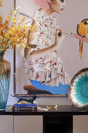 现代 美式 混搭 三居 大户型 复式 跃层 80后 小资 客厅图片来自高度国际姚吉智在160平米现代美式混搭优雅情调的分享